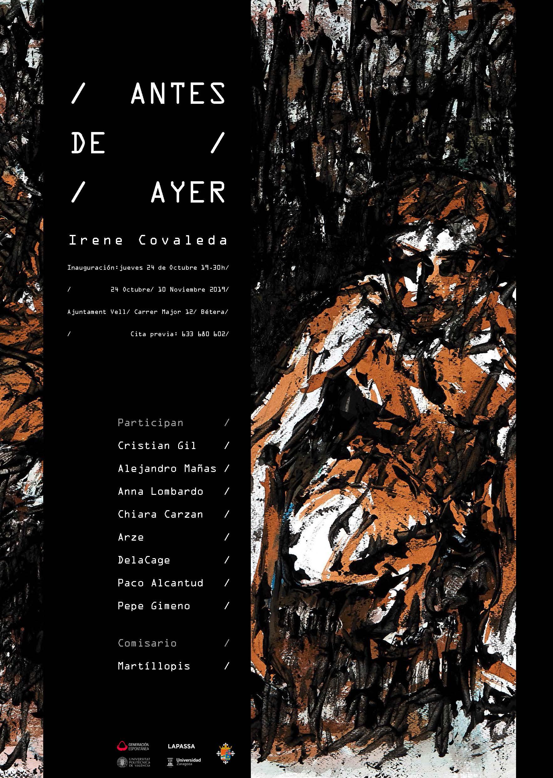 ANTES DE AYER de irene Covaleda & colectiva